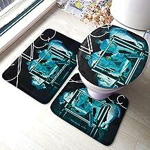 Juego de Alfombrillas de baño CNCO Primera Cita, Almohadillas Antideslizantes de 3 Piezas Alfombrilla de baño + Contorno + Tapa de Inodoro