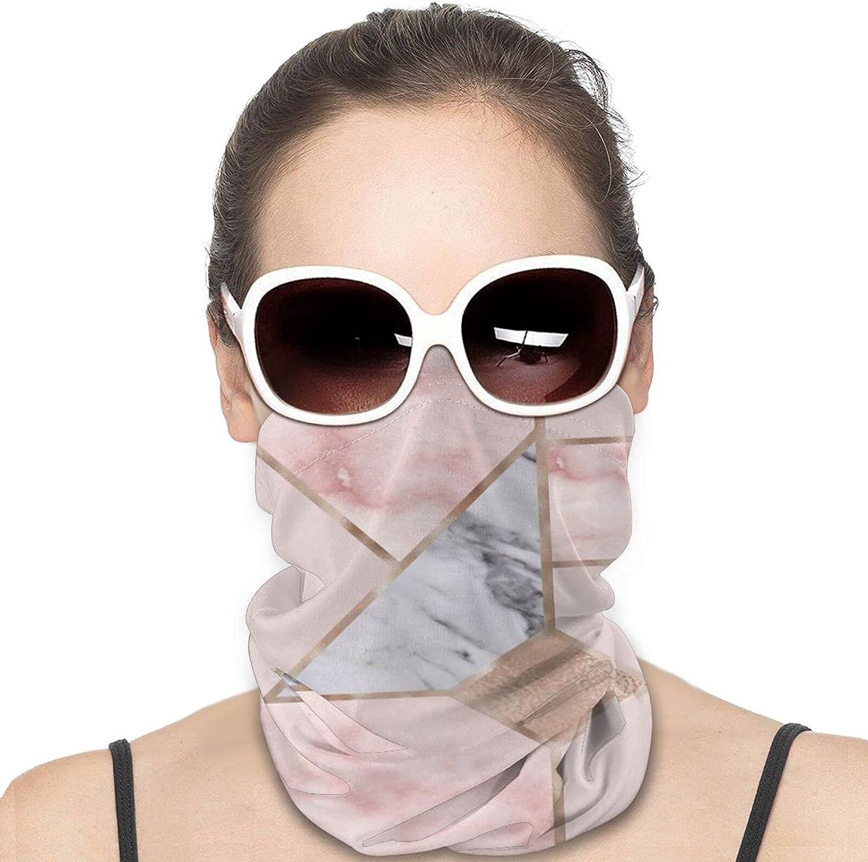 Geometric Mix Up - Rose Gold Neck Gaiter Windproof Face Cover Balaclava Outdoors Magic Scarf Headband for Men Women Motorcycling Fishing Running Climbing