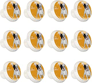 Boutons D'armoire 12 Pcs Poignés Poignée De Champignons Porte Poignées avec Vis pour Cabinet Tiroir Cuisine,Chien domestiq...