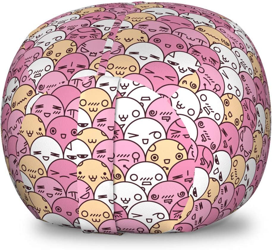 Ambesonne Anime Storage 4 years warranty Toy Bag Kawaii with Limited time for free shipping Funny Pattern Chair