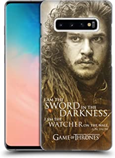 Official HBO Game of Thrones Jon Snow Character Portraits Hard Back Case Compatible for Samsung Galaxy S10+ / S10 Plus