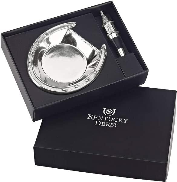 Arthur Court Designs Aluminum 5 5 Inch Diameter Kentucky Derby Wine Coaster With Stopper
