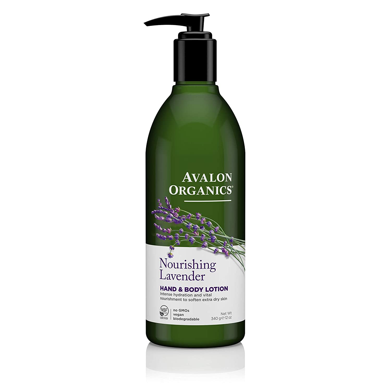 Avalon Organic Botanicals Hand and Body Lotion, Therapeutic, Lavender , 12 oz