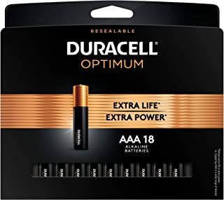 Duracell Optimum AAA Batteries | 18 Count Pack | Lasting Power Triple A Battery | Alkaline AAA Battery Ideal for Household...