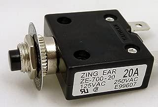 Philmore 20A Push Button Manual Reset Circuit Breaker 50V DC, 250V AC