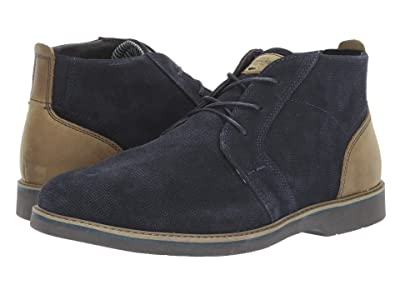 Nunn Bush Barklay Plain Toe Chukka (Navy Multi Emboss) Men