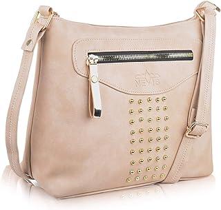 NEVIS PU Stylish Elegant Satchel Shoulder Bag/College Trendy Fashion Crossbody/Slingbag For Girl