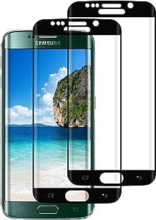Cristal Templado para Samsung Galaxy S6 Edge, [2 Pack] [Negro] 3D Cobertura Completa Protector de Pantalla para Galaxy S6 Edge,9H Dureza,Funda Compatible, Anti-rasguños, Sin Burbujas, Alta Definicion