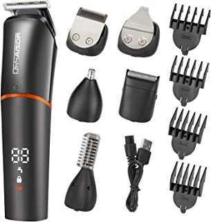 Roziaplus Beard Trimmer Hair Clippers 6 in 1 Multifunctional TrimmerforMen with Nose Hair Trimmer Professional Beard Grooming Kit for Men IPX6 Waterproof Manscaping Trimmer