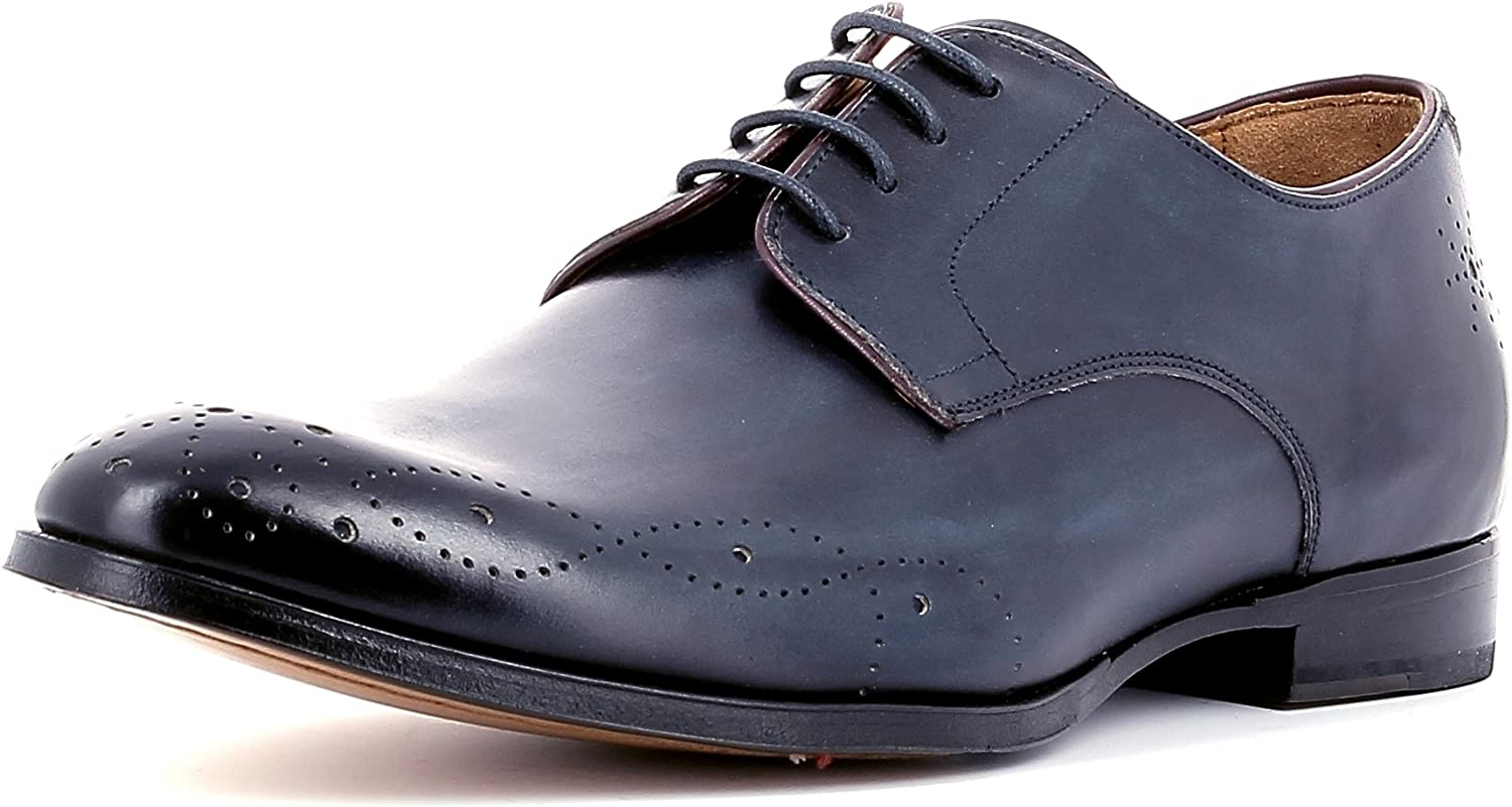 Gordon & Bros Men's Matteo 623038 Business shoes, Derby Lace up Flats, Brogue Style, Stiched Sole