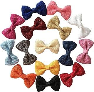 burlap hair bows