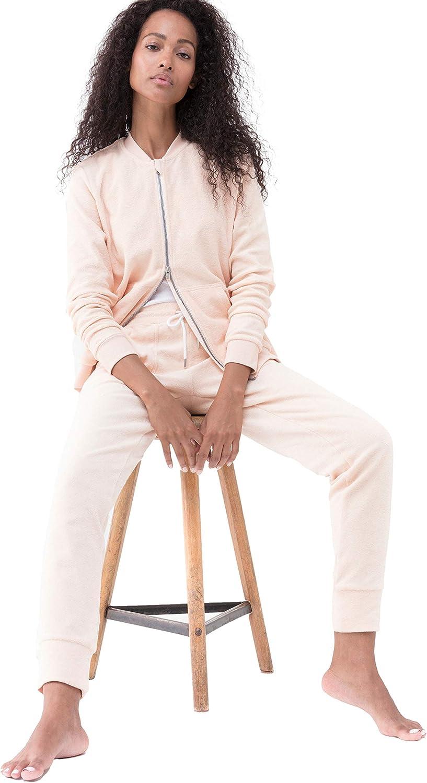 Homewear Oberteil aus Frottee mit Rei/ßverschluss Mey Damen Loungejacke Serie Night2Day 16775