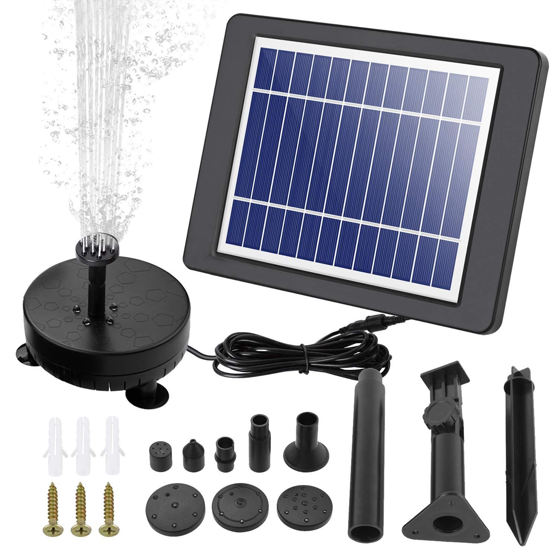 COCOMIA 3.5W Solar Fuente Bomba, LED Solar Bomba de Estanque Kit, Fuente de Jardín Solar