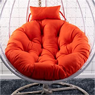 Cesta colgante Cojines para sillas con forma de huevo Cojín redondo para colgar en forma de hamaca con forma de huevo Cojín grueso para silla de columpio para patio Cojín para asiento exterior Cojín