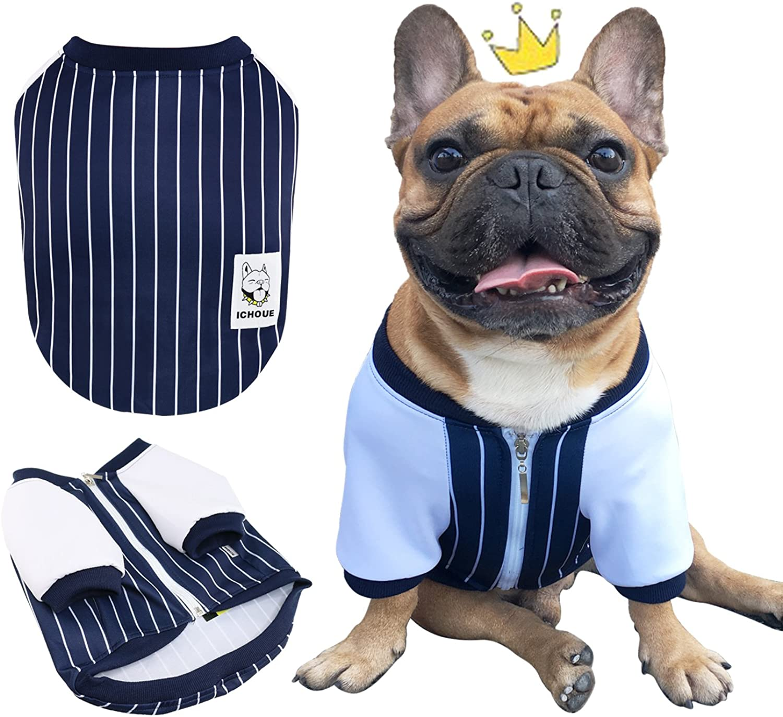 iChoue Animali domestici Dog Clothes Jacket French Bulldog Shirts Cotton Puppy Coats Pug Corgi English Bulldog American Bully Pitbull Clothing Black /Size S