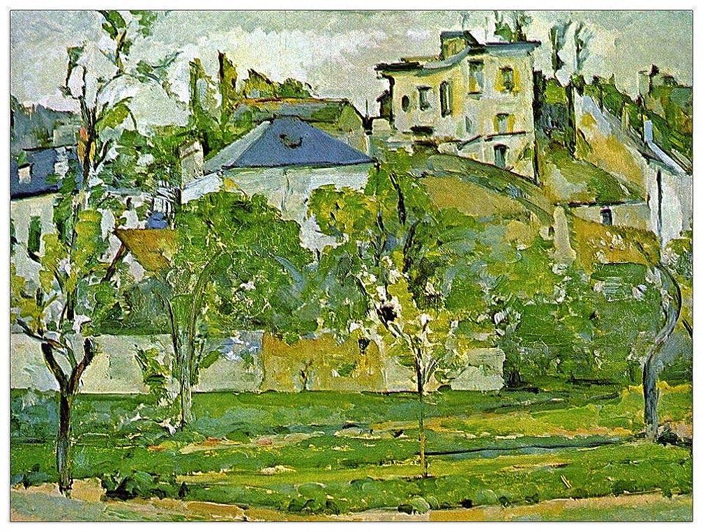 ArtPlaza TW92102 Cezanne Paul-Fruit Garden in Pontoise Decorative Panel, 35.5x27.5 Inch, Multicolored