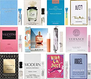 Women's Perfume Sampler Lot x 12 Sample Vials - High End Desginer Fragrance Samples (Set 4)