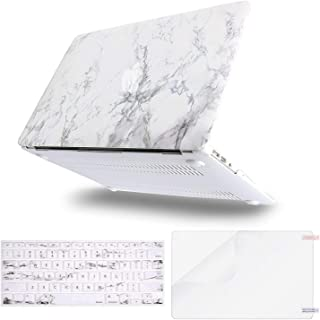 3 in One Plastic Pattern Hard Case with Keyboard Cover with Screen Protector for MacBook Air 13 Inch (Model: A1369 and A14...