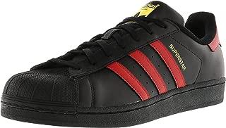 Men's Superstar Shoe Running, Core Black/Scarlet/Gold, 11 Medium US
