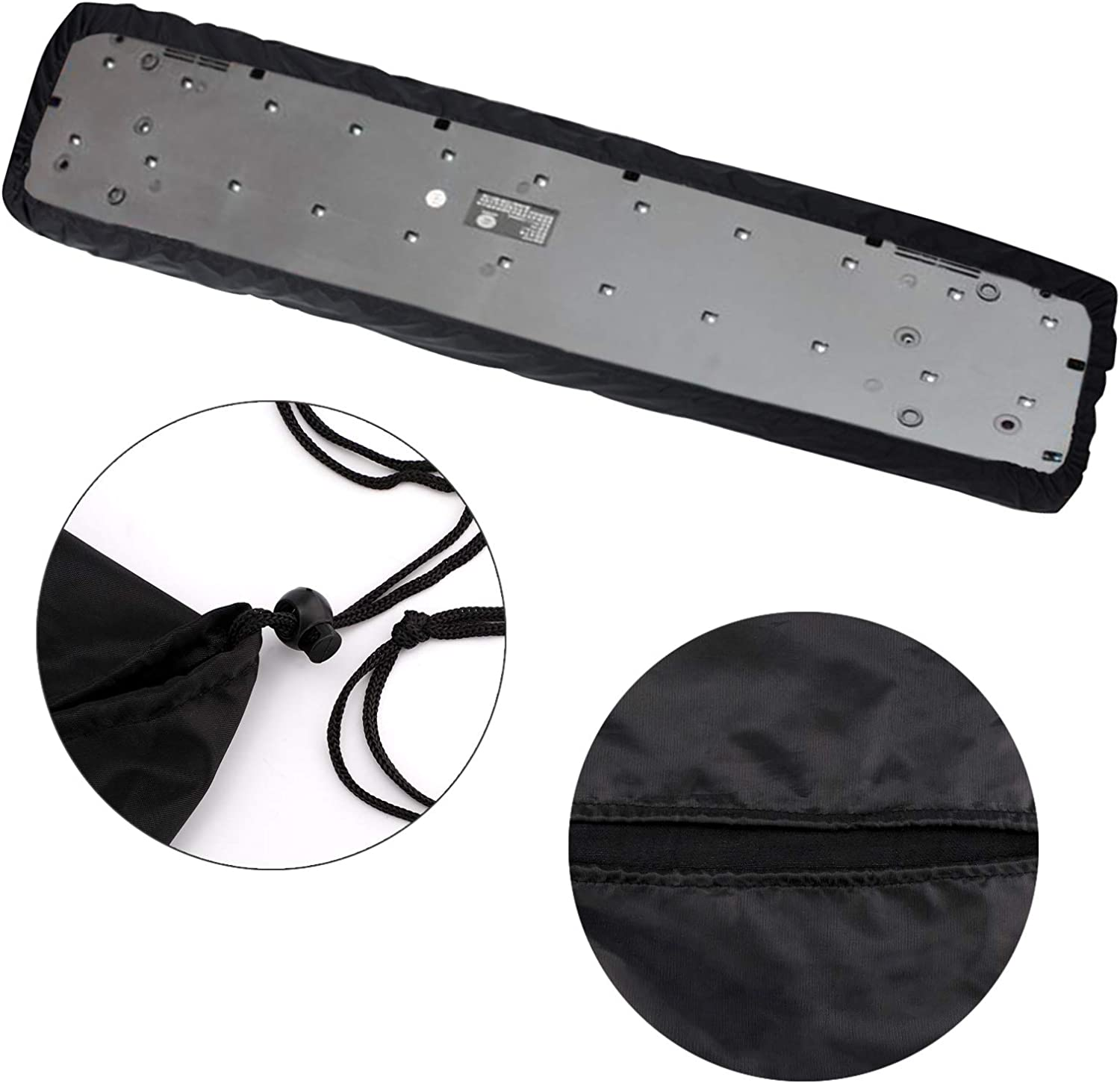 LUTER Piano Keyboard Dust Cover for 61 Keys Stretchable Protective Keyboard Cover for Electric and Digital Piano with Elastic Cord Locking Clasp