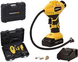 POWX1700 elektrische luchtpomp accu handcompressor 18 volt Li-Ion 8 bar incl. sproeiset