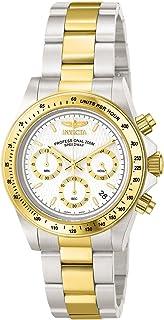 [インビクタ]Invicta 腕時計 Speedway メンズ 石英 39.5mm ケース スチール ゴールド ステンレス鋼ストラップ ホワイトダイヤル 9212 メンズ 【正規輸入品】