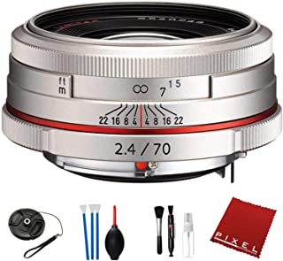 Pentax HD Pentax DA 70mm f/2.4 Limited Lens (Silver) with Pro Cleaning Kit