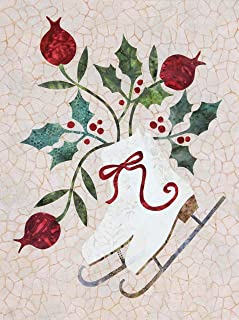 Seasonal Silhouettes Block 1 Laser Cut Fusible Applique Kit With Background, Sewing Kit