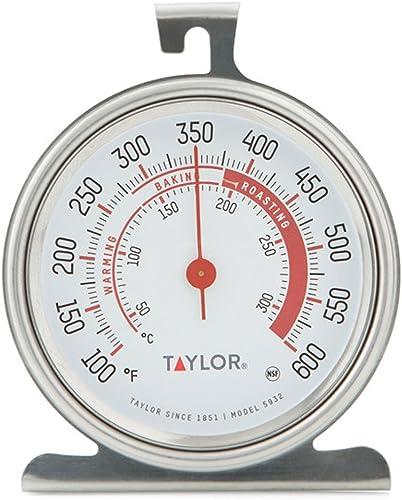 Taylor Precision Products Classic Series - Termómetro para horno (5932), color plateado