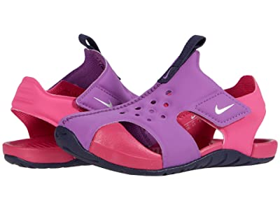 Nike Kids Sunray Protect 2 (Infant/Toddler) (Purple Nebula/Metallic Silver/Watermelon) Girls Shoes