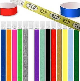 UK Wristbands - Lote de 100 pulseras identificativas, Tyvek