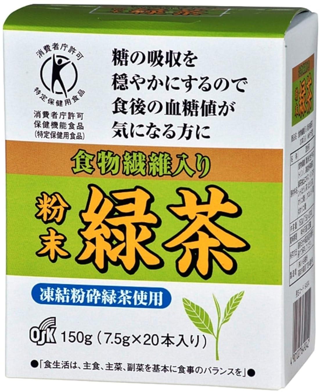 粘着性一口言うまでもなく[トクホ]OSK 食物繊維入り 粉末緑茶 7.5g×20本入り
