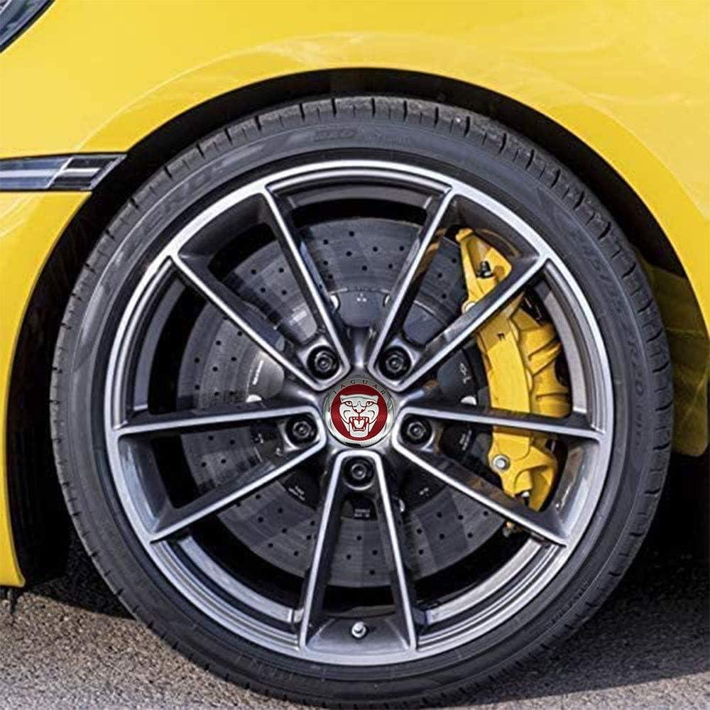 JD Auto 4pcs 56MM 2.2 Emblem Badge Sticker Wheel Hub Caps Center Cover ABS Material fit Maserati Silver