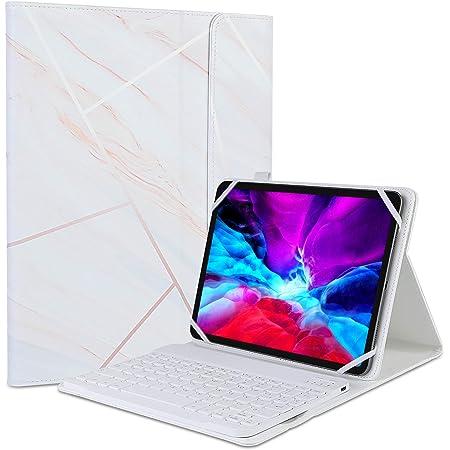 """memumi Funda Teclado de Español Bluetooth para Tablet con 7-11"""" (Incluye Ñ) para iPad 10.2 7 8 9 Generacion Mini 2021 Air 3 4/Tab S7 Tablets Keyboard Funda con Inalámbrico Teclado Bluetooth Magnético"""