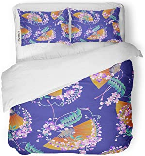 japanese wisteria quilt cover