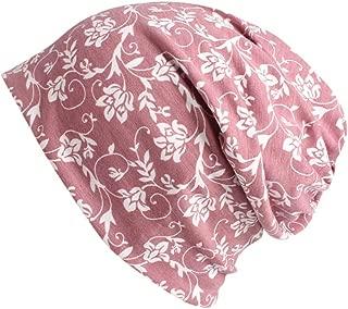 WOCACHI Women's Floral Headband Baggy Elastic Turban Beanie Chemo Cap Hat Headwrap Headwear Infinity Head Scarves