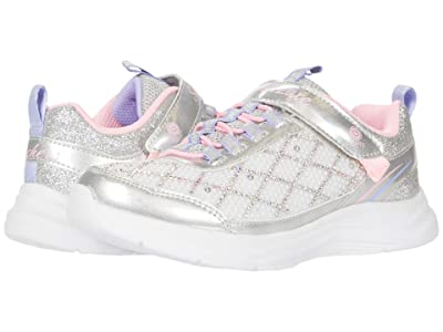 SKECHERS KIDS Sport Lighted Glimmer Kicks 20336L (Little Kid/Big Kid) (Silver/Pink) Girl