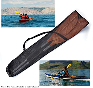 Lixada Drawstring Mesh Kayak Paddle Bag Split Shaft Canoe SUP Paddles Cover Storage Transport Mesh Bag