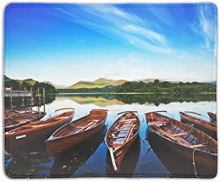 Stylish Design Keswick in The Lake District Comfort Cloth Cover Non-Slip Rectangle Mousepad 9.8x11.8x0.1