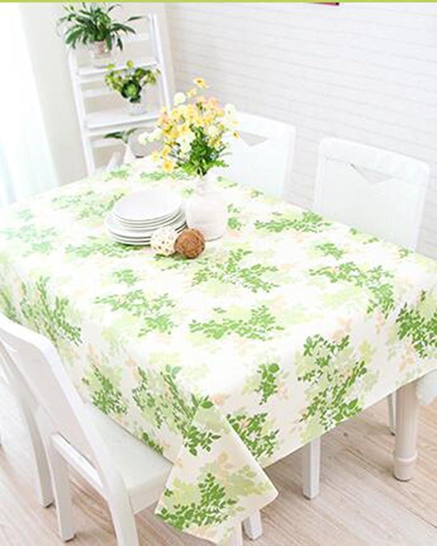 DZW Nappe ImperméAble à L'Eau Rectangle Floral Pastoral Tapis De Table éTanche Et ImperméAble à L'Eau Appliquer à Table à Manger Table Basse , 137180cm , A,Rentable