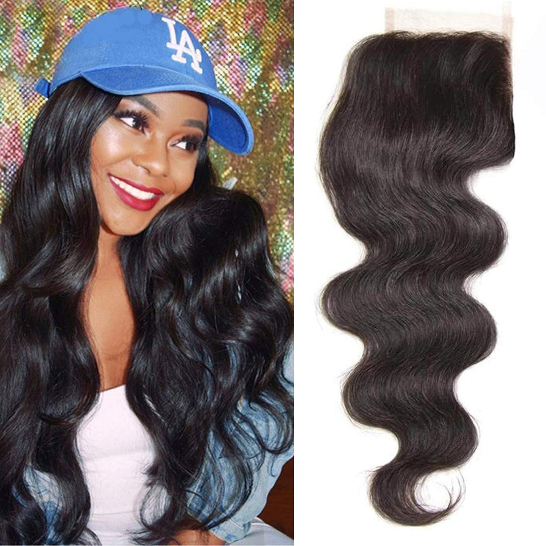ALI JULIA Outlet SALENEW very popular! ☆ Free Shipping Body Wave Hair 6x6 Unprocessed 100% Closure Human Lace