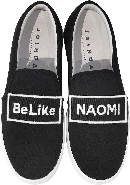 JOSHUA SANDERS Women's 10259NAOMI Black Fabric Slip On Sneakers