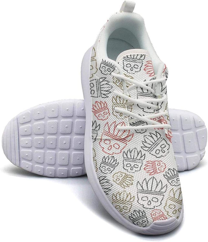 Gjsonmv Indian Skull Art mesh Lightweight shoes Women Summer Sports Driving Sneakers shoes