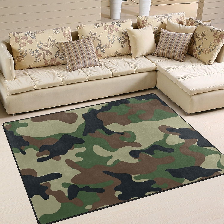 COOSUN Tarnmuster Bereich Teppich Teppich Non-Slip-Boden-Matte Fußmatten Wohnzimmer Schlafzimmer 63 x 48 Zoll 63 x 48 Zoll Multi B07CCLZS66