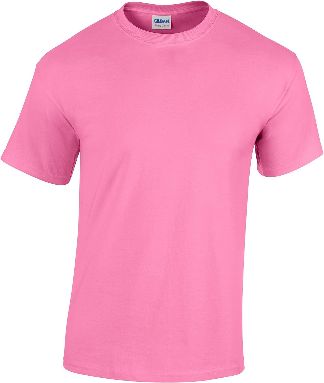 Gildan Childrens Unisex Heavy Cotton T-Shirt (Pack of 2) (XL) (Azalea)