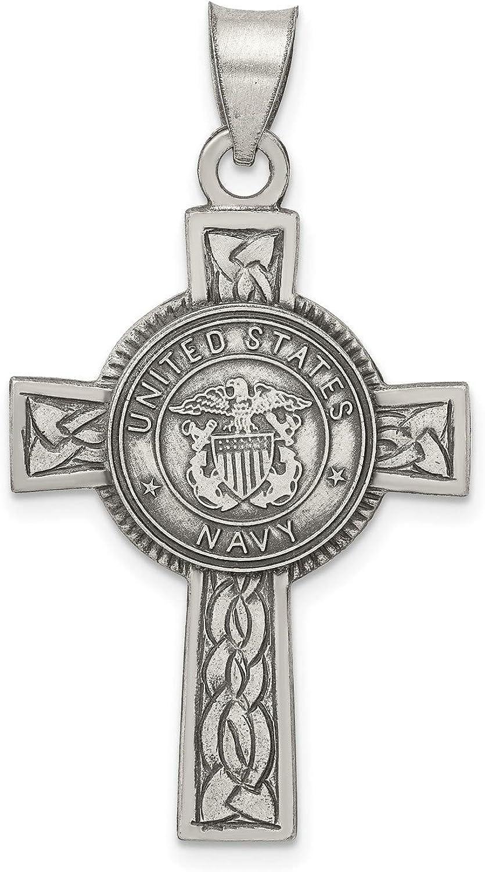 United States Navy Saint Christopher Cross 925 In Celtic Pendant Luxury goods Chicago Mall