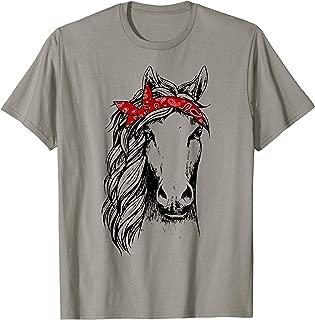Horse Bandana T Shirt for Horseback Riding Horse Lover T-Shirt