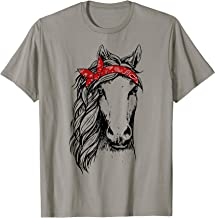 Horse Bandana T Shirt for Horseback Riding Horse Lover