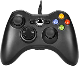PomisGam Wired Controller PC Game Console for Microsoft Xbox 360 / Xbox 360 Slim/PC Windows 7 8 10 Steam, Wired USB Gamepad with Dual Vibration and ergonomics