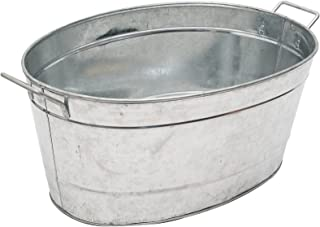 Achla Designs Standard Oval Galvanized Steel Tub